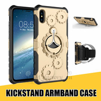 Wholesale gear x for sale - Group buy Sport Case for iPhone XR XS MAX X Plus Gear Design Hybrid Cover with Kickstand Armband for Samsung Note S9