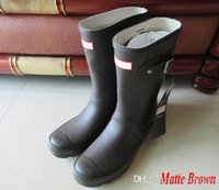 Wholesale Over Size Women - 2017 Hunter Rain Boot Wellies Waterproof for Women Rain Boots Knee Over Outdoor Shoes Size 35 36-42 10 Colors Mix-order Boots Sale