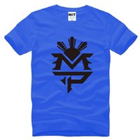 Wholesale Boxer Tee - 2016 New Fashion Sport T Shirt Manny Pacquiao T Shirts Men Cotton Short Sleeve O Neck MP Logo Male Tshirt Boxer Tee Male Fitness Colthes