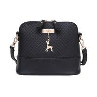 Wholesale Black White Soft Toy - 2017 Women Messenger Bags Fashion Mini Bag With Deer Toy Shell Shape Bag Women Shoulder Bags