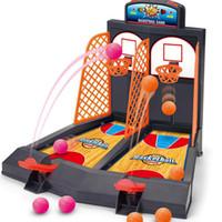 jogos de arcade crianças venda por atacado-Jogo de tiro de basquete crianças mesa de mesa melhor clássico jogos de arcade Mini jogo de cesta de basquete para crianças atividade brinquedo ajuda a reduzir o estresse