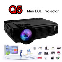 LCD LED Mini Projetor Portátil 800 Lumens Full HD Projetores USB TF AV HDMI VGA LED para Cinema em Casa Cinema Gaming Q5 Projetor TV Beamer