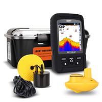 Wholesale Sonar Equipment - 4pcs lot Wholesale Wireless & Wired Sonar Fish Finder Light Lure Sensor Alarm System Deeper Sea Fishing Radar Equipment free shipping