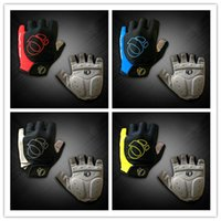 Wholesale Fitness Road - High Quality GEL Cycling Gloves 4 Colors Anti-slip Shockproof Bicycle Road Riding Half Short Finger Gloves Ciclismo Fitness Gym Sports