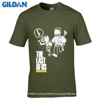 Wholesale Survivor Man - GILDAN DIY Style The Last Of Us Men T shirt The Last Survivor Gamers Short Sleeve Tshirts Fashion Style Printed Pattern Tees