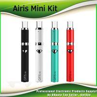 Wholesale Premium Mini - Original Airis Mini Starter Kits 500mAh Battery Premium Vaporizer Vape Pen Kit With Ceramic Chamber Dual Quartz Coil 100% Authentic