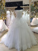 Wholesale Wedding Gowns Online China - Beautiful A Line 2016 Online Store China Long Custom Made Formal Bridal Gowns Design NW025 Latest Bridal Wedding Gowns Pictures