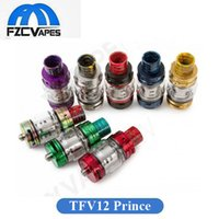 Authentic SMOK TFV12 Cloud Beast Prince Tank 8ml Capacità 25,5mm Diametro Wide Bore Drip Tip 100% Originale Sub Ohm Atomizzatore