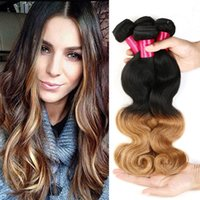Wholesale 22 Extentions Remy - Brazilian Hair Bundles Body Wave Remy Hair Extentions 3pcs Lot Cheap Brazilian Ombre Hair Weave 1b 30 Two Tone Body Wave Brazilian Hair
