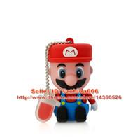 Wholesale Usb Flash Games - Bestselling! USB creativo Super cartoon figure Mario game pen drive model usd disk 8gb 16gb 2gb 1gb USB Flash Drive 2.0