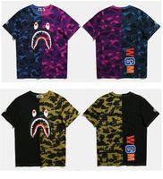 Wholesale Women Camouflage Fashion Shirts - fashion camouflage T-Shirt bap shark Tshirt women men's plays Hoodies top tee WGM tshirt homme vlone