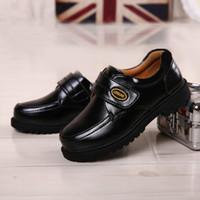 Wholesale Dancing Cow - Black leather shoes boy, leather shoes children's, shoes boy students new show trend of dance shoes