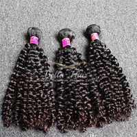 Wholesale human hair extentions for sale - Group buy 10 inch Human Hair Extentions Top Quality Malaysian Hair Grade A Natural Black Curly Hair Weft