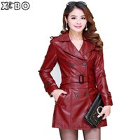 Wholesale Used Jacket - Wholesale-5XL 2016 New Women Leather jacket with real fur collar 2 Uses For Short And Long Leather Coat Women Leather Jackets Plus Size