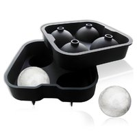 spherical ice maker - 2Pc Set food safe Silicone Spherical Round Ball Ice Cube Tray Maker Mold For Party Bar Kitchen Easy DIY at home