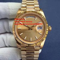 Wholesale Luxury Watch 18k Gold Sapphire - 3 Color Top Quality Watch EW Factory V2 40mm 228238 Day-Date Champagne Dial 18K Yellow Gold Swiss CAL.3255 Movement Automatic Mens Watches