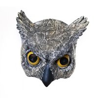 Wholesale Adult Costumes Owl - 7inch Half Face Owl Masks For Adults,Halloween Masquerade Cosplay Mask,Latex (owl masks) Free delivery