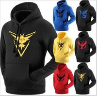 Wholesale Wholesale Youth Coats - Youth Poke Go Hoodies Poke Sweatshirts Pullover Mens Fashion Pikachu Jacket Poke Ball Coat Casual Pocket Monster Outwear Poke Jumpers
