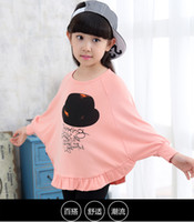 Wholesale Flower Print Tops - 2016 New Arrival Kids Clothings Children Tops & Tees Girl T-Shirts Top Quality Cute Clothings Baby Printed Flower Fashion Hot Selling