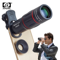 Wholesale iphone zoom for sale - Group buy APEXEL X Telescope Zoom Mobile Phone for iPhone Samsung Smartphones universal clip Telefon Camera with tripad XTZJ lens