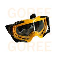 vajilla amarilla al por mayor-gafas de motocross de color amarillo Unisex anti-100% UVA / UVB Outdoorglasses ciclismo eye ware MX off Gafas de cascos de carretera Sport gafas