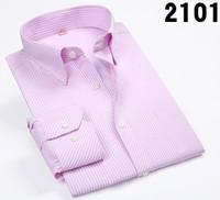 mens green striped shirts 2018 - Men Shirts Male Striped Formal Dress Shirt Long Sleeve Mens Brand Casual Shirts Plus Big Size 5XL 6XL