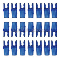 Wholesale Carbon Arrow Shafts Wholesale - 50pc Transparent Blue Orange Arrow Pin S Nock For Carbon Aluminum Shaft ID 6.2mm