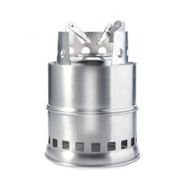 Wholesale Bbq Stove - Portable Stainless Steel Lightweight Wood Stove Solidified Alcohol Stove For Outdoor Cooking Picnic BBQ Camping SH270