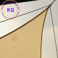 Wholesale Waterproof Sun Shade Sail x3 x3 M polyester fabric PU coated with free ropes for pool