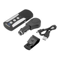 handsfree bluetooth автоответчик оптовых-Bluetooth EDR BT V3.0 авто солнцезащитный козырек солнцезащитный козырек громкой связи комплект вызова FM-радио MP3 беспроводной многоточечный динамик телефон громкой связи DSP