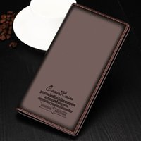 Wholesale- Fashion Boyfriend Portefeuille cadeau Noir Brown Portefeuille en cuir long homme Hommes Porte-cartes d'affaires Porte-monnaie Porte-monnaie Bifold Soft Bag