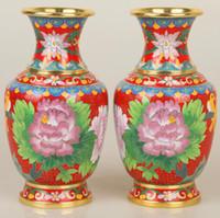 ingrosso vaso di peonia-Cloisonne Vase Decoration Crafts peony regali aziendali tradizionali