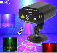 Suny 40 Patterns RG Led Blue Stage Effet d'éclairage DJ Disco Party Bar Équipement de mariage Light Red Green Laser Projector Lights