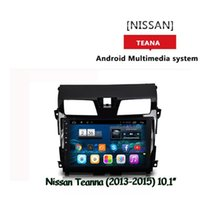Wholesale Teana Gps - For NISSAN NEW TEANA Car dvd Gps Cortex A7 quad core 1.6G HZ 10.2inch Android Version 4.4.2 Wifi OBD DVR