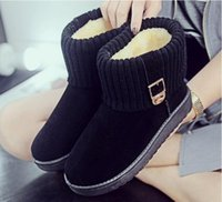 Bottes hiver femmes Femmes Chaussures hiver Chaussures plates Cheville Chaussures mignonnes Chaussures Chaussures à neige de mode Chaussures femme Article n ° XDX-012