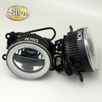 Wholesale Auto Fog Lamp Suzuki - SNCN Safety Driving LED Angel Eyes Daytime Running Light Auto Bulb Fog lamp For Suzuki Celerio 2014 2015 2016,3-IN-1 Functions