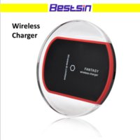 Wholesale Crystal Retail Iphone - Bestsin Crystal Qi Wireless Charger Charging Pad for Samsung S7 Edge S8 Plus Iphone 8 X Note 8 with retail package