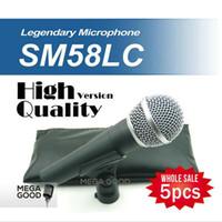 ingrosso migliori microfoni a filo-Miglior microfono 5 pz / lotto Versione di Alta Qualità SM 58 58LC SM58LC Wired Vocal Karaoke Palmare Microfono Dinamico Microfone Mic free mikrafon