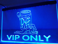 LA468b - VIP Only Duff Beer LED Neon Light Sign