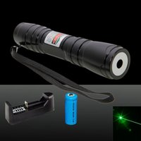 Wholesale Mini Lazer - 619 Green Laser Pointer High Power Mini Astronomical Laser Pen Powerful Industrial Lazer Pointer Pen + Charger + Battery + Box