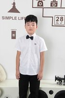 Wholesale Show Boy Short - Children Clothing New Brand Kids Shorts Casual 100% Cotton Baby Boys Short Sleeve Shirts Students show Shirts For 3-14T Summer