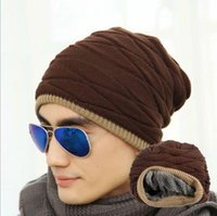 Wholesale Wool Ski Hats For Men - New Style Fashion Men Knitted Caps Skull Beanies Autumn Winter Warm Wool Blend Ski For Men Beanie Hats JF-300