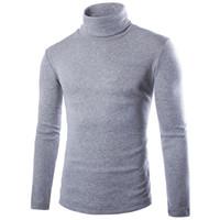 gömlekler örme toptan satış-Erkek Kış Yüksek Yaka Örgü Gömlek Mens Longline Hoodies Erkekler Polar Katı Tişörtü Moda Uzun Boylu hoodie Ekstra Uzun