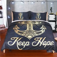 Golden Anchor Bedding Set, Twin Queen King Size Duvet Cover Set com travesseiro Bohemian Printed Soft Bed Cover 3Pcs Bedclothes