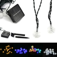 Wholesale Twinkle Lights Sale - Wholesale- Hot Sale OriGlam 15.75ft 20 LEDs Solar Powered Outdoor Twinkling Chuzzle Ball String Lights for Patio   Garden   Lawn   Porch