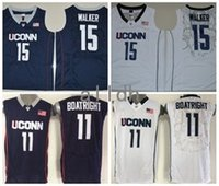 Wholesale Shirts Basketball - 2017 Kemba Walker Uconn Huskies College Basketball Jerseys 15 Kemba Walker 11 Ryan Boatright Shirts Stitched University Basketball Jersey