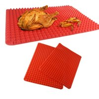 Wholesale Kitchen Coating - Silicone Cooking Mat Kitchen Utensils Household Utensils New Pyramid Pan Fat Reducing Textured Non Stick