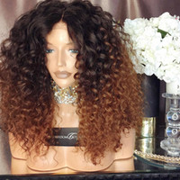 Wholesale Glueless Lace Wigs Swiss Curly - Human Hair Lace Wig Curly Ombre Color T1b 30 Full Lace Wigs With Baby Hair Brazilian Virgin Hair 150 Density Natural Hairline Glueless