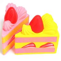 yenilik çilek toptan satış-Toptan-15 CM Squishyfun Çilek Kek Süper Yavaş Yükselen Yenilik Oyuncaklar Ile Orijinal Ambalaj Oyuncak Koleksiyonu Hediye Çocuklar Için