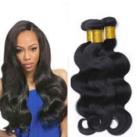 Wholesale Brazillian Hair Mix Weave - Mink Brazillian Body Wave Wefts Human Hair Bundles Weaves 8-34Inch Unprocessed Peruvian Indian Malaysian Mongolian Weaving Hair Extensions